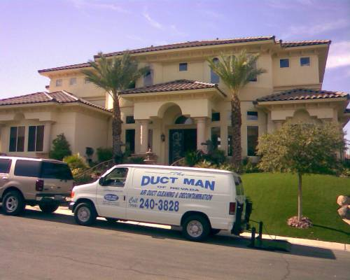 Duct Man of Nevada service truck